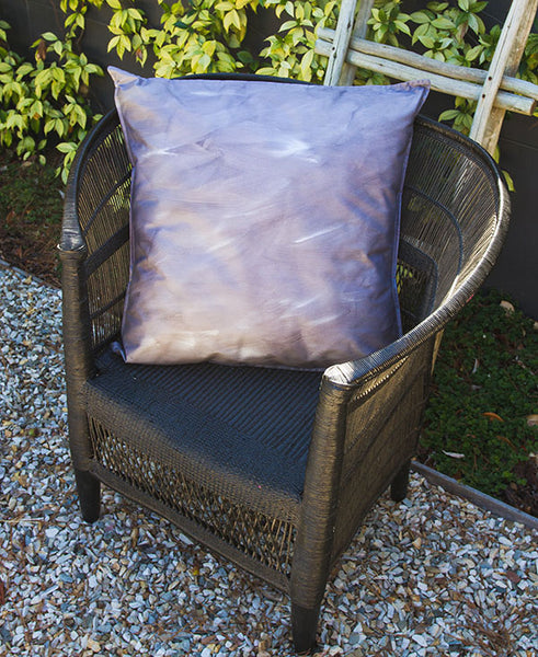 Grey and Silver Wash Scatter Cushion