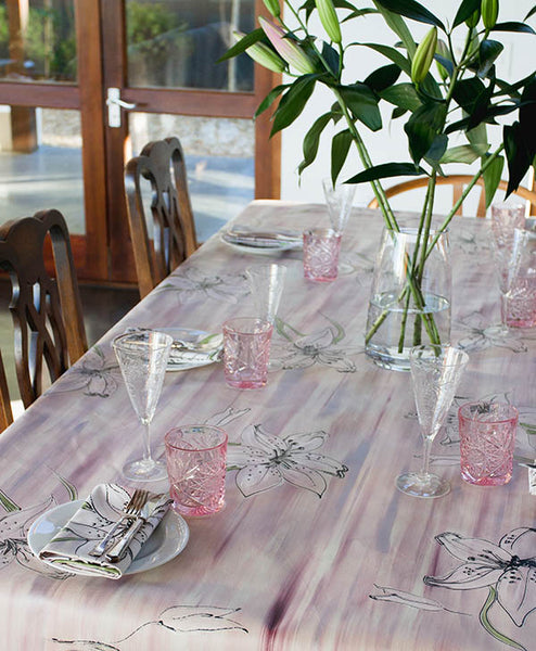 Lilac Tiger Lily Tablecloth