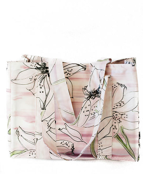 Lilac Tiger Lily Tote Bag