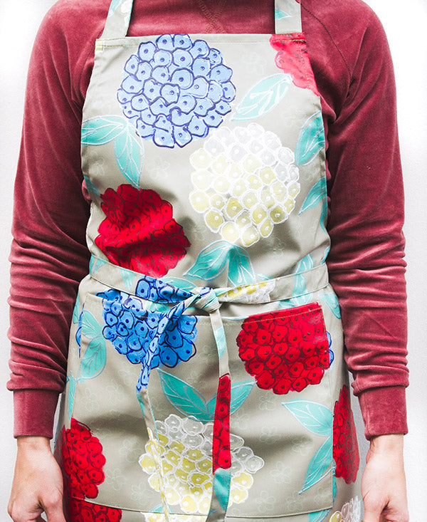 Hydrangeas on Stone Background Apron
