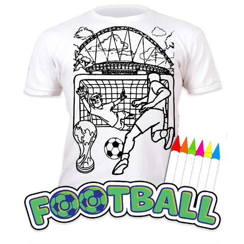splat planet colour in football t shirt with 6 x washable pens