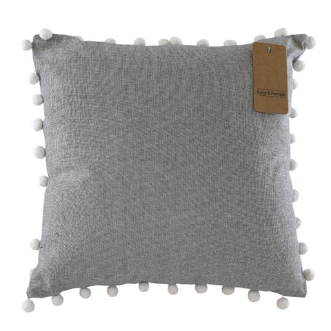 Raine and Humble Set of Two Pom Pom Cushions 45 x 45cm
