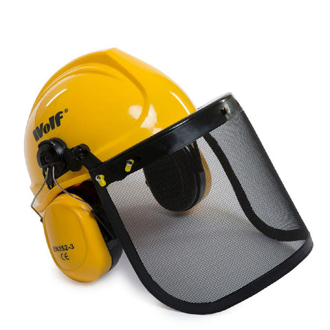 Wolf Safety Helmet with Ear Guard & Visor