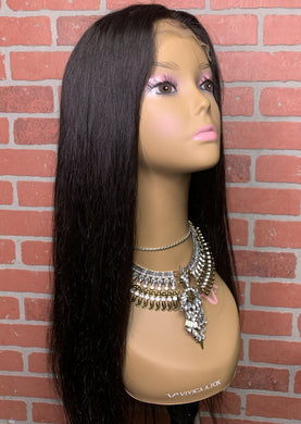 Brazilian Mink Straight Closure 4X4 Wig