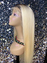 Platinum Frontal Wig With Dark Roots