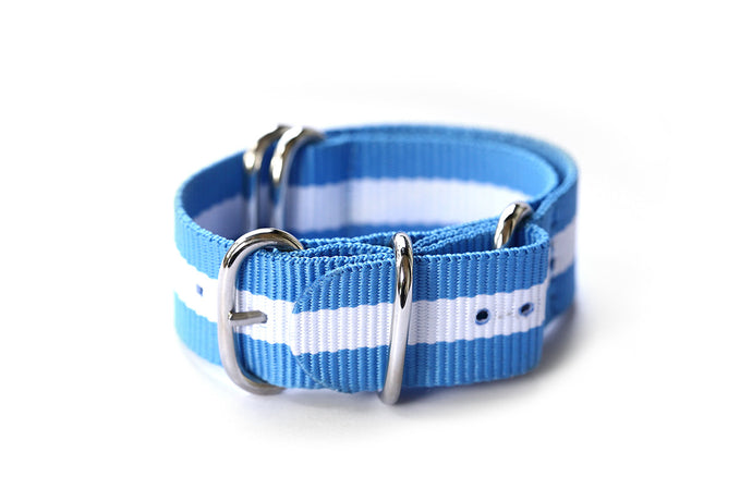 Nato Strap Blue and white
