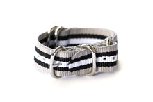 Load image into Gallery viewer, Nato Strap Black/white/beige