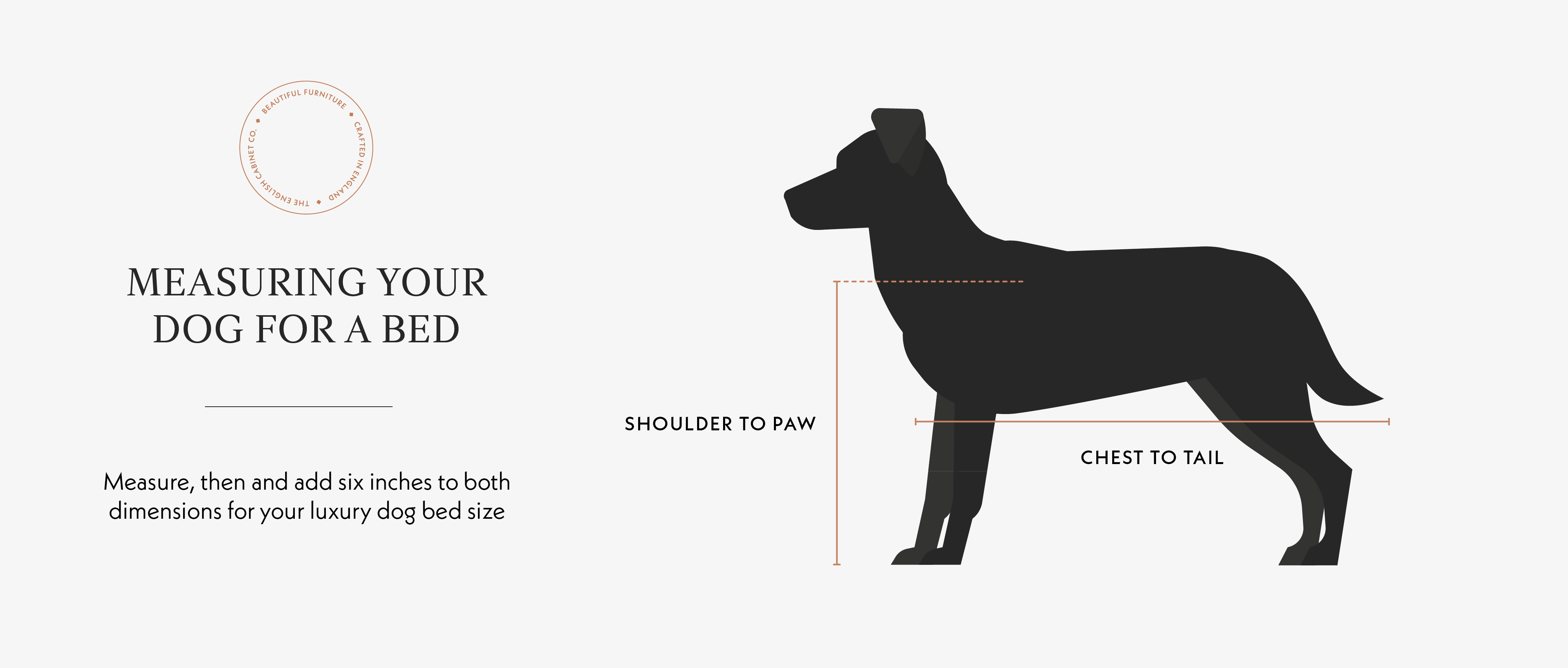 How to measure your dog bed diagram