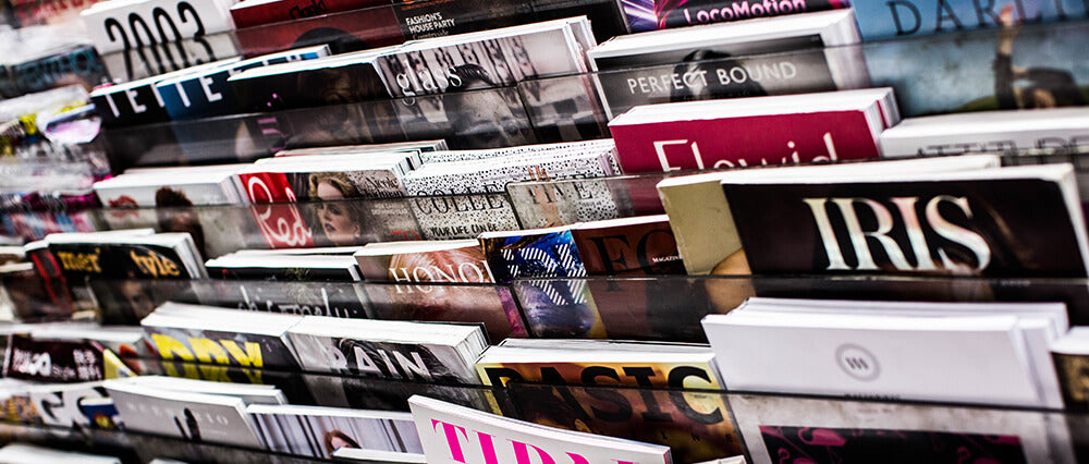 Fast fashion and furniture magazines