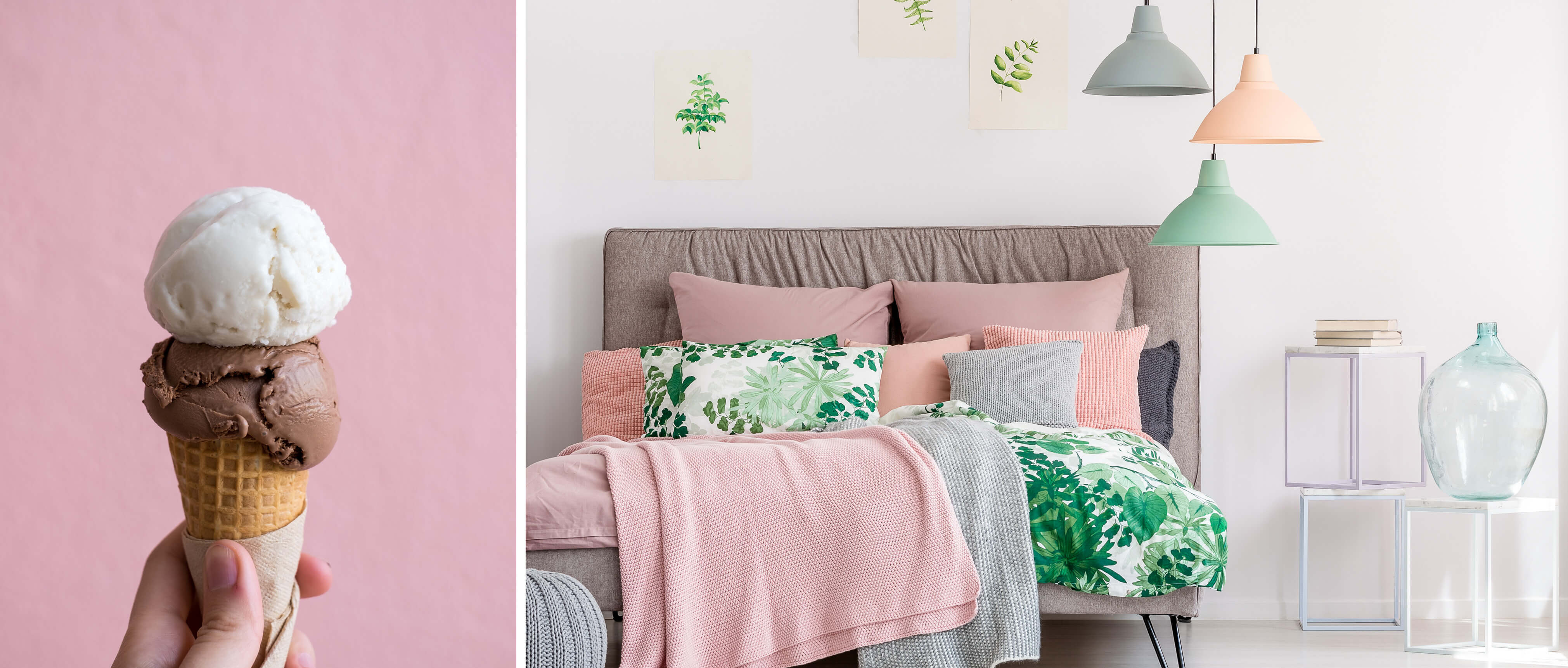 icecream coloured pastel interior trend 2018