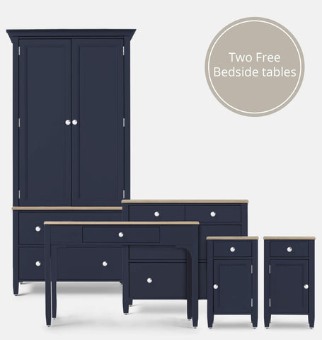 Admiral Blue 5 Piece Bedroom Furniture Set