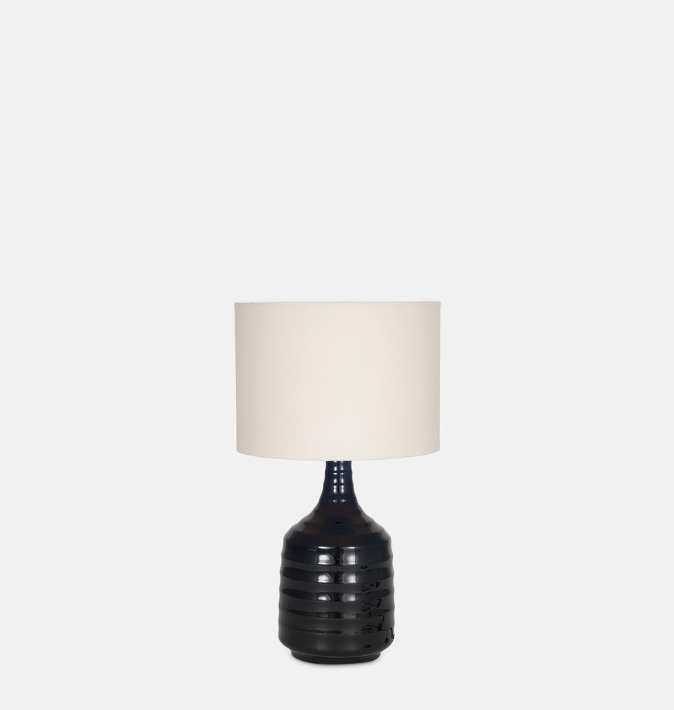Ceramic Tapered Black Table Lamp 44cm