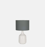 Ceramic Tapered White Table Lamp 44cm