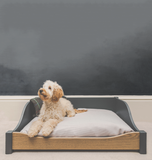 Luxury wooden dog bed - size large