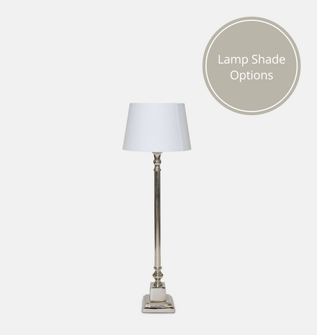 Nickel Table Lamp 56.5cm