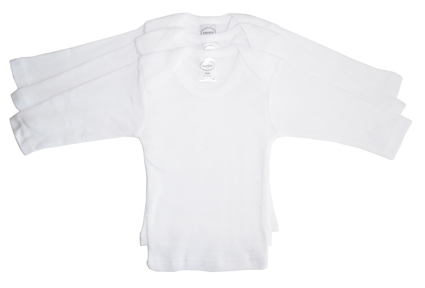 Bambini Long Sleeve White Lap T-shirt