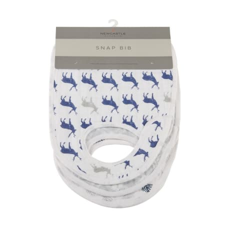 Blue Deer Snap Bibs - Set of 3