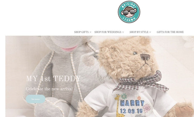 NEW PERSONALISED GIFT STORE FOR ORIGINAL MONKEY