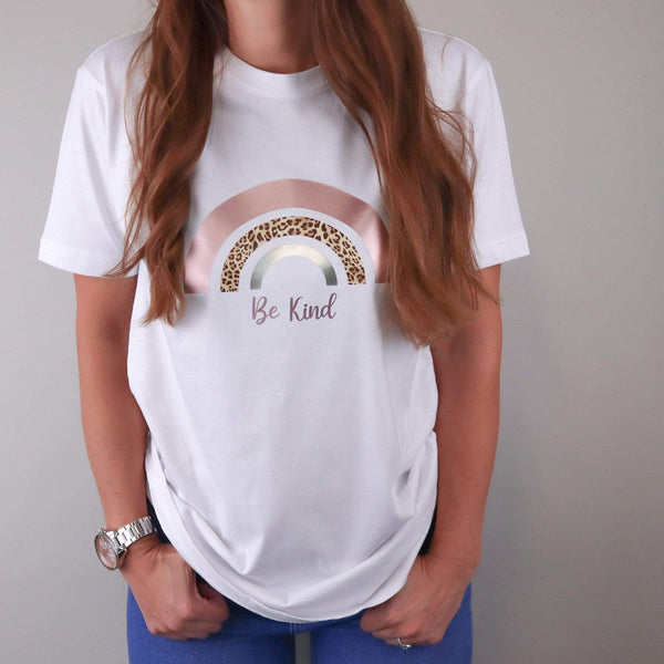 Be Kind Rainbow White Tee