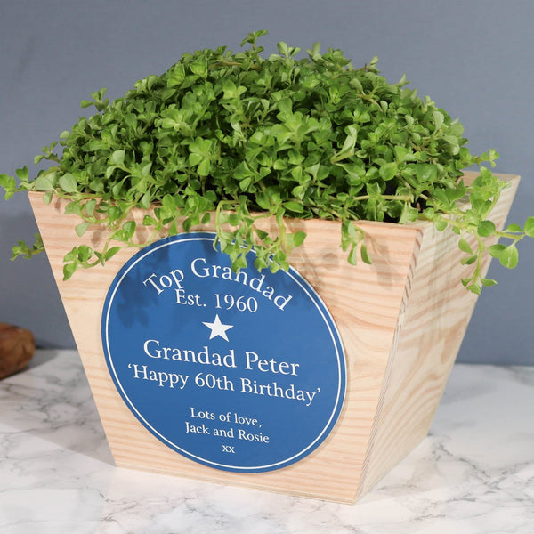 Heritage Sign Birthday Planter