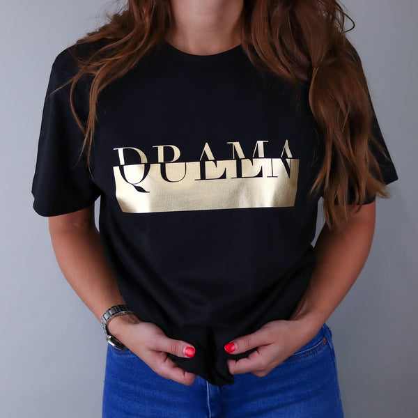 Drama Queen Black & Gold Tee