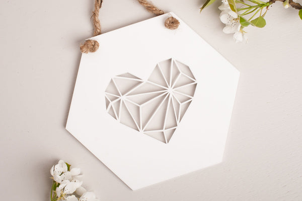 Heart Geometric Wall Art