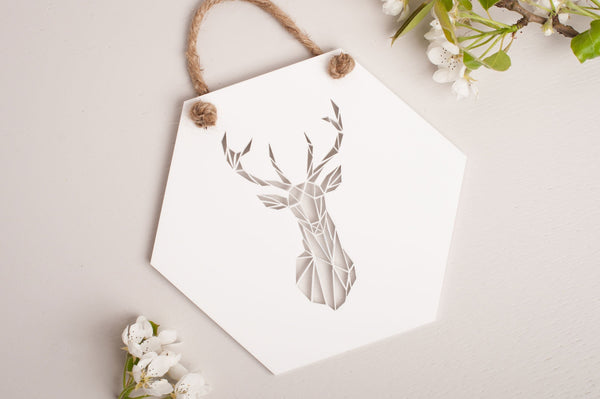 Stag Geometric Wall Art
