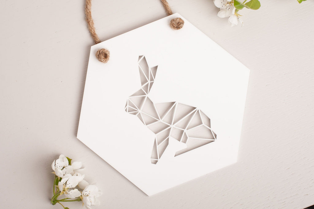 Hare Rabbit Geometric Wall Art