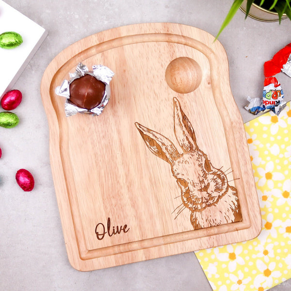 Cute Rabbit Breakfast Board