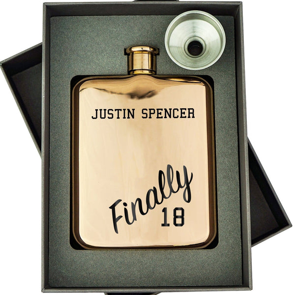 FINALLY 18 HIP FLASK 3 HIP-OMG87