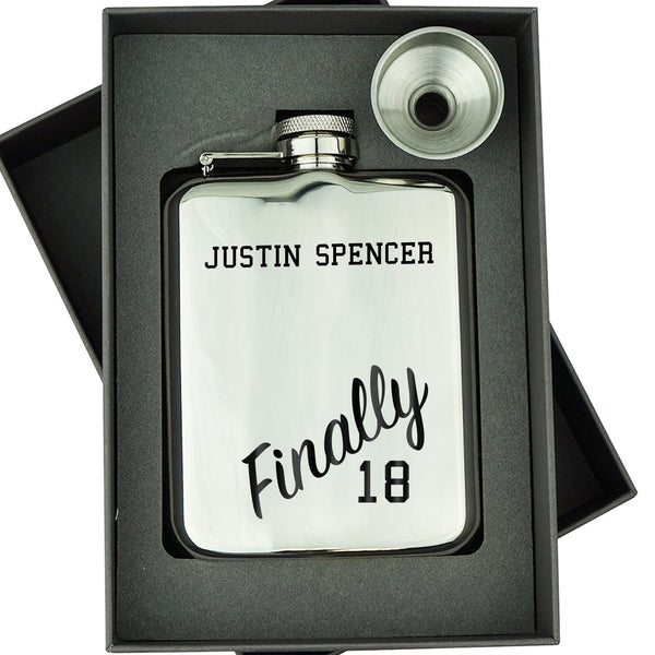 FINALLY 18 HIP FLASK  2 HIP-OMG87