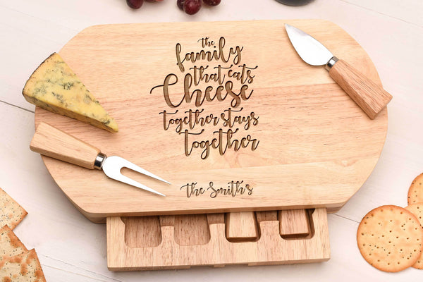 Oval Family Cheese Board & Knife set.CB26
