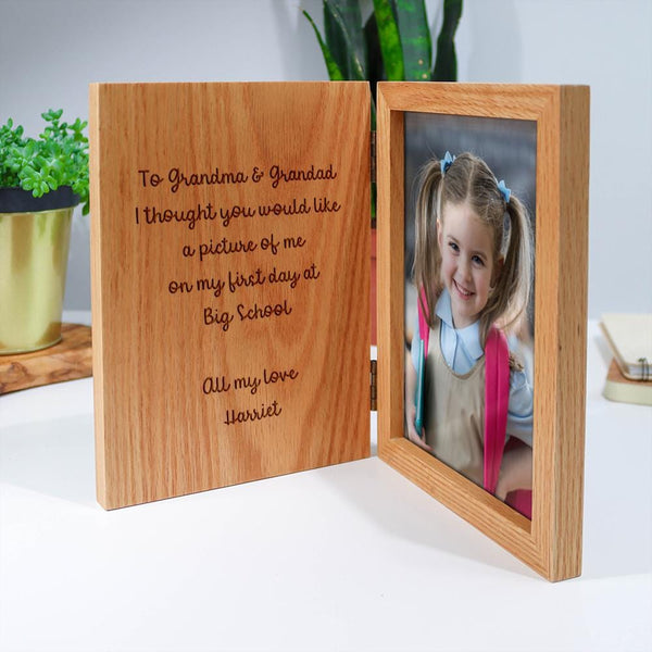 First Day At School Book Frame