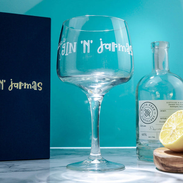 Gin 'N' Jarmas Glass