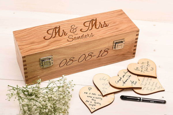 Oak Guest Book Box GB3