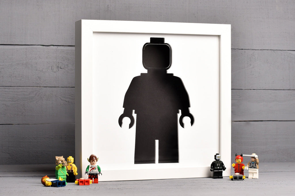 LEGO Mini Figure Storage Wall Art.