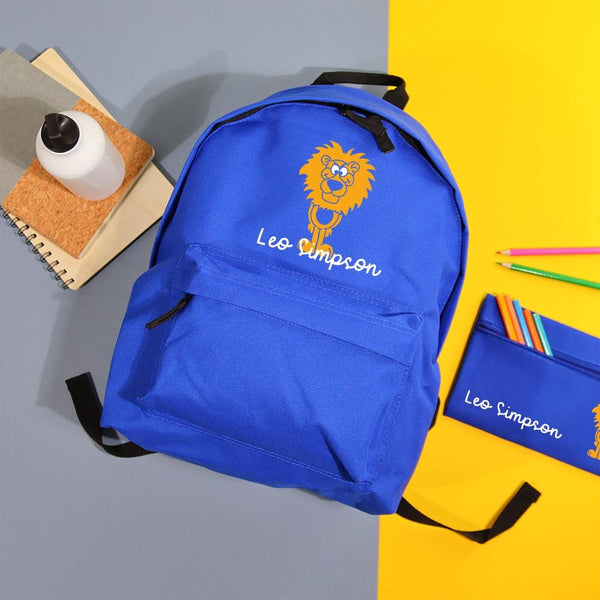 Lion Backpack & Pencil Case