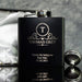 TRADITIONAL STYLE GROOMSMAN HIP FLASK OMG12-HIPBLK