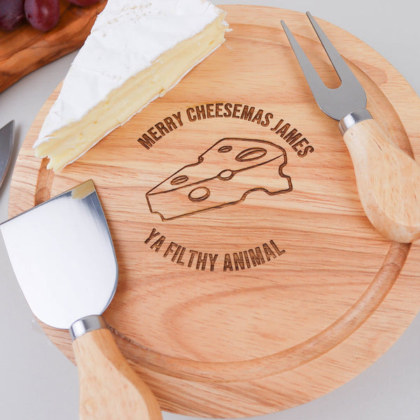 Merry Cheesemas Board Knife Set