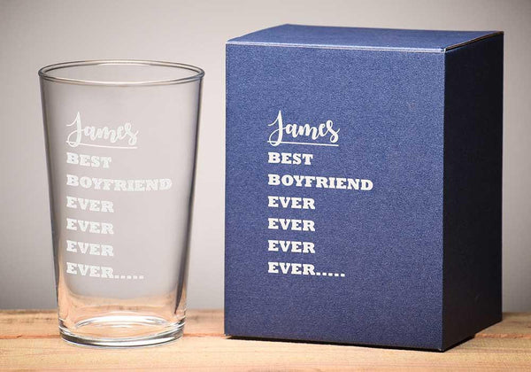 Best Boyfriend EVER Pint Glass