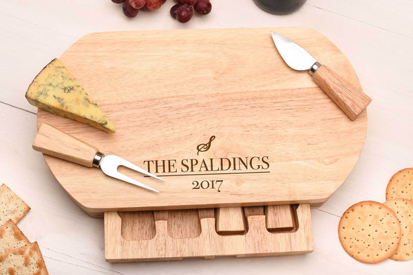 Surname Cheese Board & Knife set.
