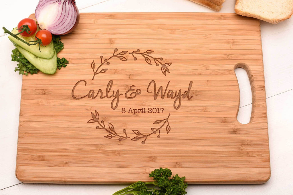 Wreath Design Couples Cutting board