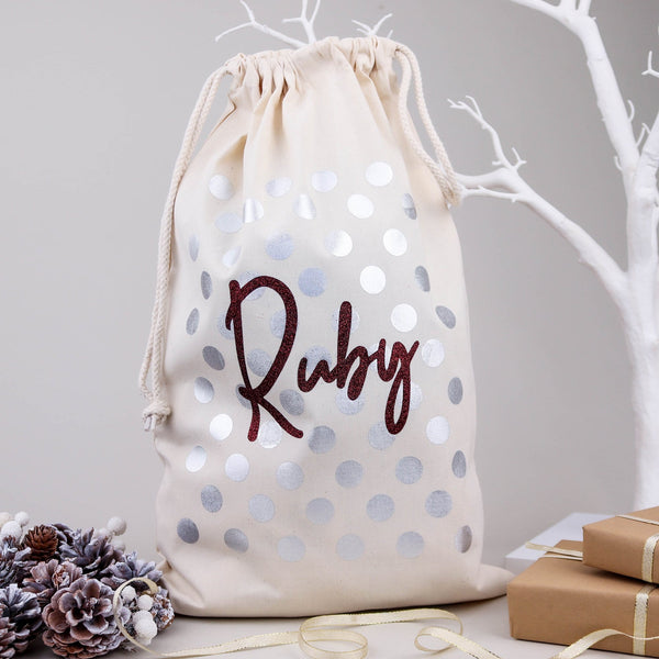 The Spotty Christmas Eve Bag