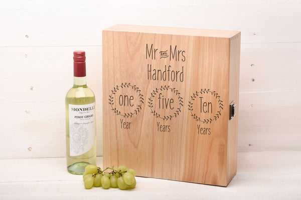 Triple Wine Box Wedding Gift WB5