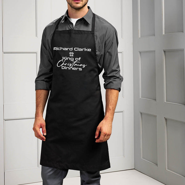 King or Queen Of Christmas Dinners Apron