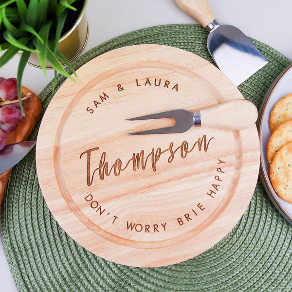 Personalised Round Cheese Board