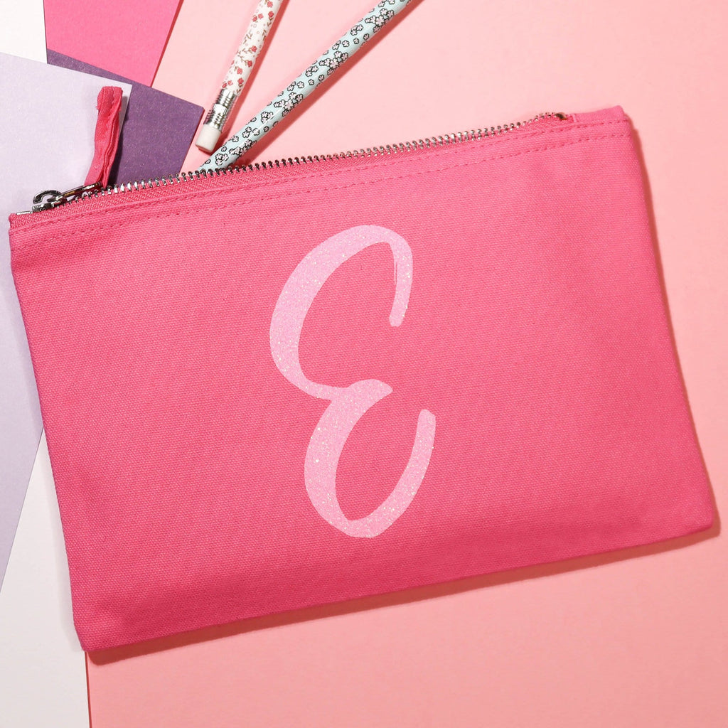 Sparkly Initial Pencil Case