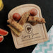 Wooden egg breakfast board with personalisation and princess image by Original Monkey Gifts.