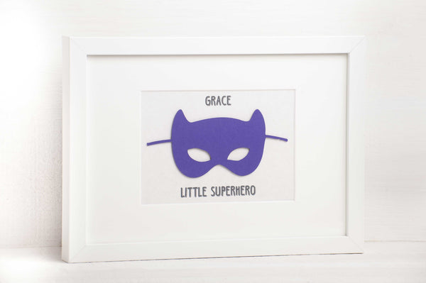 Girls SuperHero Mask Wall Art