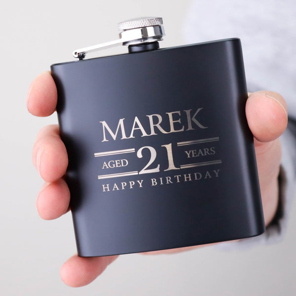 BIRTHDAY HIP FLASK OMG14-HIPBLK